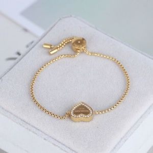 Michael Kors Gold Heart Crystal Heritage Bracelet